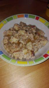 Apfel-Nuss-Porridge